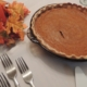 pumpkin pie on the table